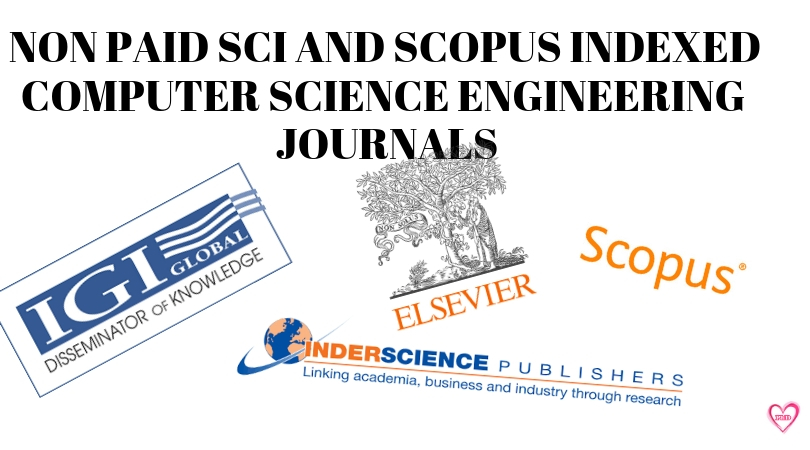 List of Non Paid SCI and Scopus Indexed Computer Science Engineering