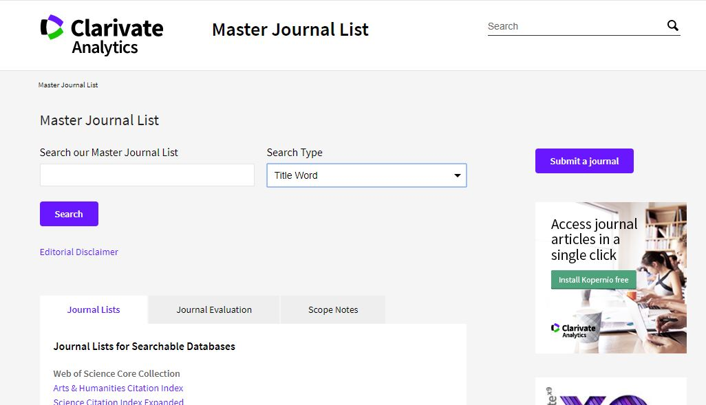 How to Identify SCI Indexed journals