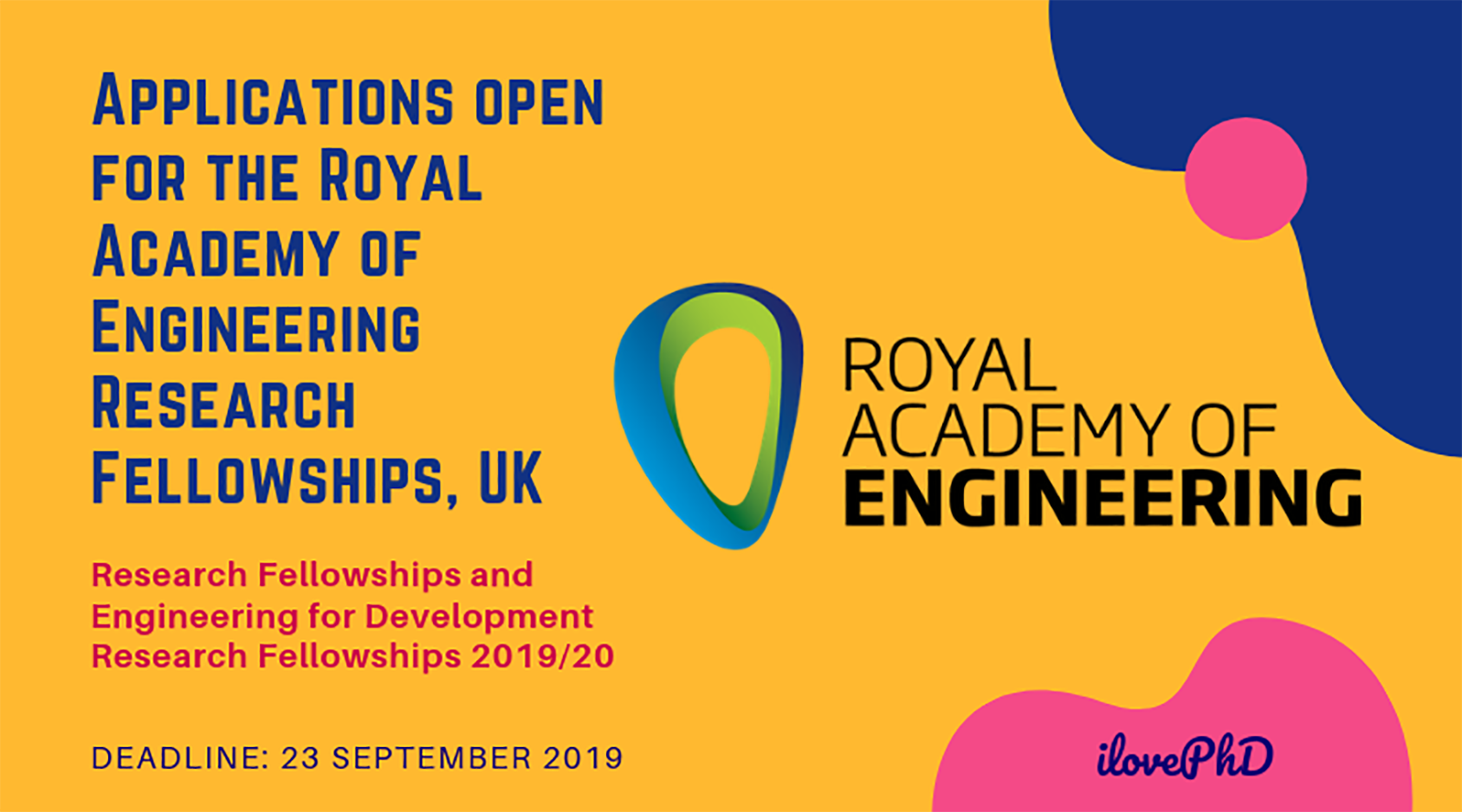 Royal Academy of Engineering Research Fellowships Open to Applications