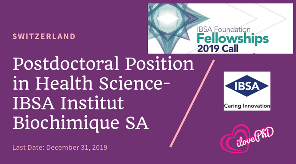 Postdoctoral Position in Health Science-IBSA Institut Biochimique SA